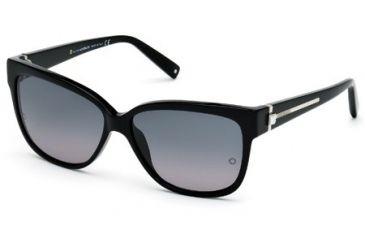 Mont Blanc MB415S Sunglasses - Shiny Black Frame Color