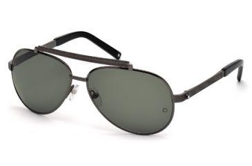5e6b6240732d9 Mont Blanc MB454S Sunglasses - Shiny Gun Metal Frame Color