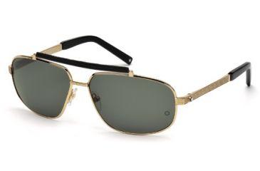 Mont Blanc MB455S Sunglasses - Shiny Rose Gold Frame Color, Green Lens Color