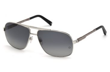 Mont Blanc MB456S Sunglasses - Gray Frame Color, Smoke Polarized Lens Color