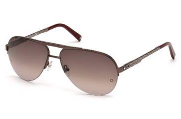 Mont Blanc MB457S Sunglasses - Gray Frame Color, Gradient Bordeaux Lens Color