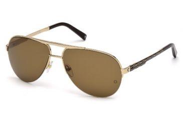 Mont Blanc MB457S Sunglasses - Shiny Rose Gold Frame Color, Roviex Lens Color