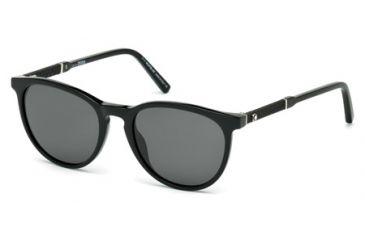 808a6387d2 Mont Blanc MB588S Sunglasses - Shiny Black Frame Color