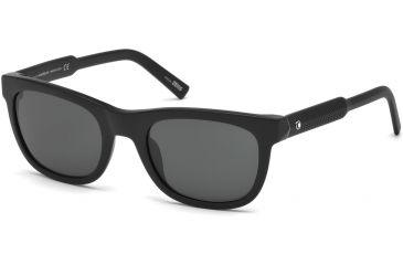 48706dd80c Mont Blanc MB652S Sunglasses - Matte Black Frame Color