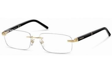 Montblanc MB0337 Glasses Frames - Shiny Endura Gold Frame Color