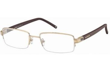 Montblanc MB0342 Eyeglass Frames - Shiny Rose Gold Frame Color