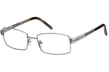 Montblanc MB0347 Eyeglass Frames - Shiny Dark Ruthenium Frame Color