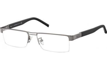 Montblanc MB0381 Eyeglass Frames - Shiny Gun Metal Frame Color