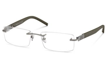 Montblanc MB0382 Eyeglass Frames - Matte Light Ruthenium Frame Color