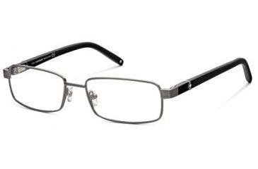 Montblanc MB0386 Eyeglass Frames - Shiny Gun Metal Frame Color