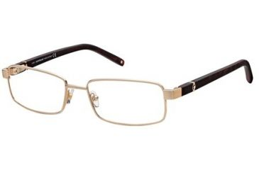 Montblanc MB0386 Eyeglass Frames - Shiny Rose Gold Frame Color