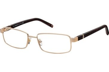 Montblanc MB0386 Eyeglass Frames - Shiny Rose Gold Frame Color