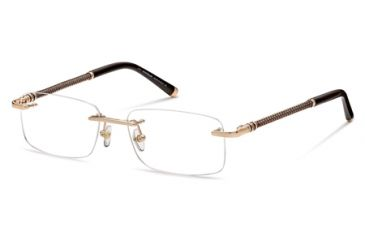 Montblanc MB0391 Eyeglass Frames - Shiny Rose Gold Frame Color