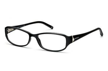 Montblanc MB0393 Eyeglass Frames - Shiny Black Frame Color