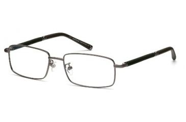 Montblanc MB0396 Eyeglass Frames - Shiny Dark Ruthenium Frame Color