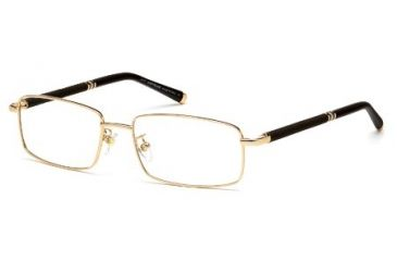 Montblanc MB0396 Eyeglass Frames - Shiny Rose Gold Frame Color
