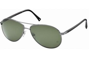Montblanc MB325S Sunglasses - Shiny Gun Metal Frame Color, Green Lens Color