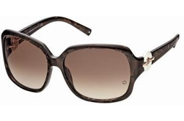 Montblanc MB356S Sunglasses - Dark Brown Frame Color, Gradient Brown Lens Color