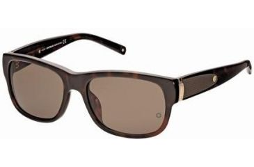 Montblanc MB371S Sunglasses - Dark Havana Frame Color, Green Lens Color