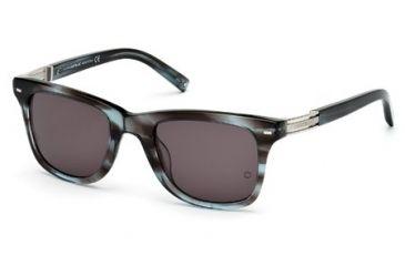 Montblanc MB402S Sunglasses - Grey Frame Color, Smoke Lens Color