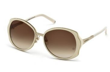 Mont Blanc MB416S Sunglasses - Ivory Frame Color