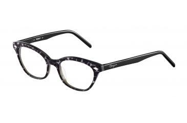 Morgan 201061 Progressive Prescription Eyeglasses - Silver Frame and Clear Lens 201061-6551PR