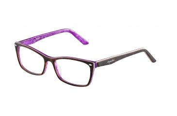 Morgan 201063 Single Vision Prescription Eyeglasses - Brown Frame and Clear Lens 201063-6504SV