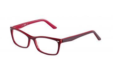 Morgan 201063 Single Vision Prescription Eyeglasses - Violet Frame and Clear Lens 201063-6513SV