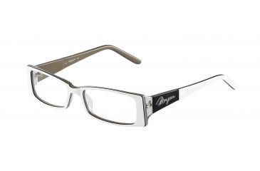 Morgan 201065 Single Vision Prescription Eyeglasses - White Frame and Clear Lens 201065-6553SV