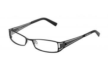 Morgan 203075 Progressive Prescription Eyeglasses - Black Frame and Clear Lens 203075-400PR