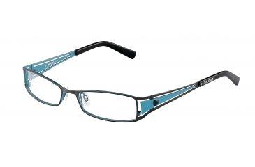Morgan 203075 Progressive Prescription Eyeglasses - Blue Frame and Clear Lens 203075-447PR