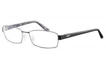 Morgan 203120 Single Vision Prescription Eyeglasses - Black Frame and Clear Lens 203120-423SV
