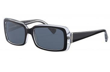 Morgan 207132 Single Vision Prescription Sunglasses - Black Frame and Grey Lens 207132-6240SV