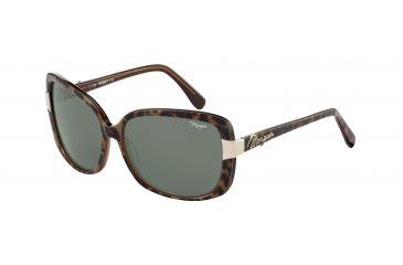 Morgan No. 207142 Sunglasses - Brown Frame and Grey Green Lens 207142-6512