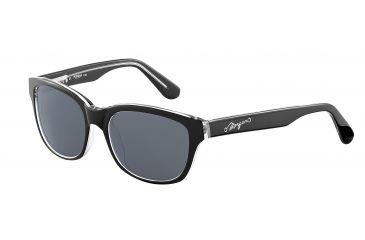 Morgan 207144 Single Vision Prescription Sunglasses - Black Frame and Grey Lens 207144-8738SV