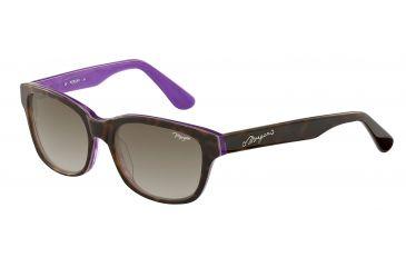 Morgan 207144 Single Vision Prescription Sunglasses - Brown Frame and Brown Gradient Lens 207144-6504SV