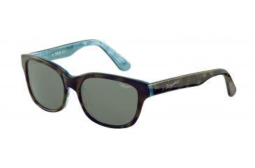 Morgan 207144 Single Vision Prescription Sunglasses - Brown Frame and Grey Green Lens 207144-6503SV