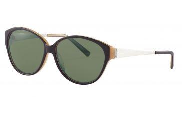 Morgan No. 207204 Sunglasses - Brown Frame and Grey Green Lens 207204-6151