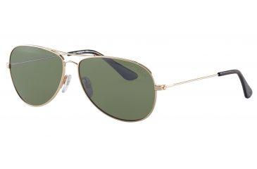 Morgan 207336 Single Vision Prescription Sunglasses - Gold Frame and Green Silver Mirror Lens 207336-600SV