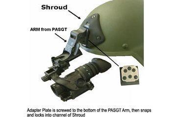 Morovision MICH Helmet Shroud 3-Hole Low Profile