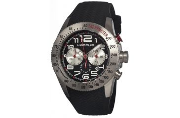 Morphic 0702 M7 Series Mens Watch, Back Dial w/ Black Silicone Band, Stainless Steel Case MPH0702