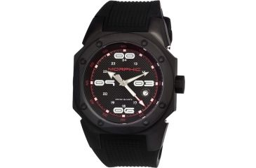 Morphic 1004 M10 Series Mens Watch, Black Dial w/ Black Rubber Band, Tianium Black Case MPH1004