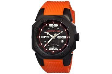 Morphic 1006 M10 Series Mens Watch, Black Dial w/ Orange Rubber Band, Titanium Black Case MPH1006