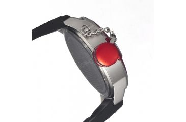 Morphic M24 Series Watch,Black Silicone Band,Silver Hand,Red Bezel,Black Analog Dial,Strap Buckle MPH2403