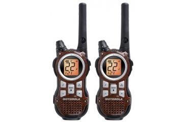 Motorola Talkabout 35 Mile Two Way Radio Value Pack Woodgrain Brown Mr350rvp