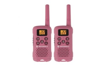 Motorola Talkabout 16 Mile Range, AAA only, 22 channels, pink, Pink MG167A