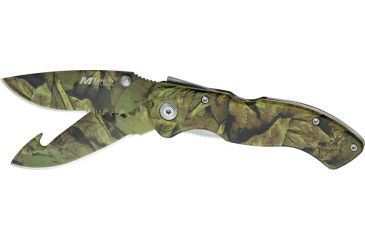 Mtech Camo Partially Serrated Blade, 4 1/8in. Closed MT226