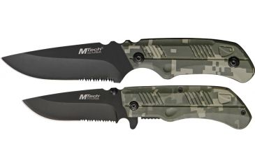 Mtech Fixed Blade-Linerlock Combo Knives MT566DC