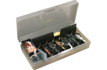 MTM Broadhead Accessory Box Clear Smoke 8.5x4.5x2 Inches
