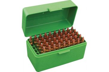MTM Case-Gard 50 Rifle Ammo Boxes .222 & .222 Magnum Green RS-50-10
